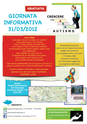 EVENTO ABA GRATUITO A CALCI (PI) – 31 Marzo 2012